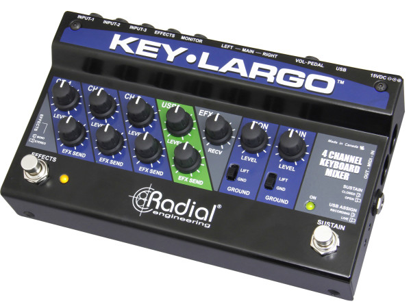 Key-Largo - Keyboard Mixer and Performance Pedal