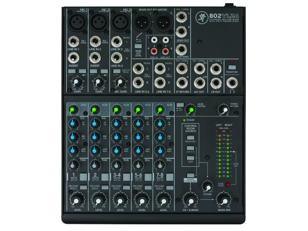 802-VLZ4 8 Channel Compact Analogue Mixer