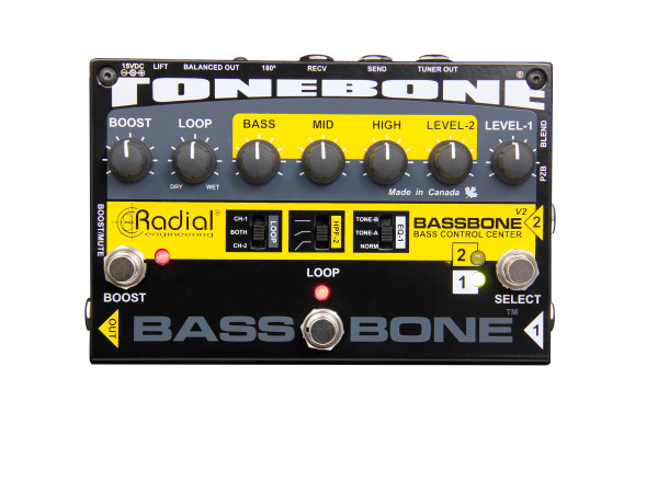 Bassbone V2 - Two Channel Bass Preamp and DI Box