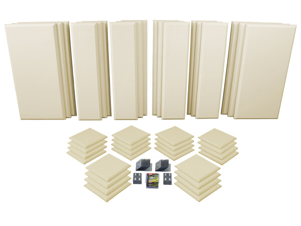 London 16 in Beige Acoustic Wall Panel Room Kit