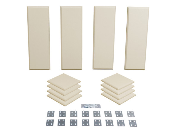 London 8 in Beige Acoustic Wall Panel Room Kit