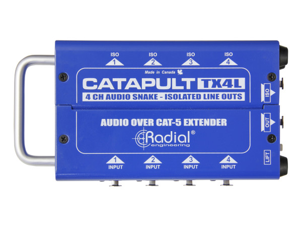 Catapult TX4L 4-Channel Transmitter with Balanced I/O, Line-Level Transformers