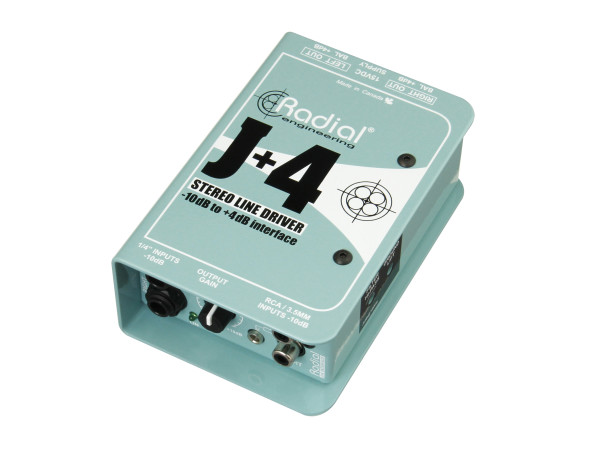 J+4 Balanced -10dB to +4dB Signal Driver