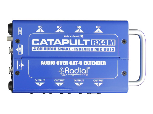 Catapult RX4M 4-Channel Receiver, with Balanced Outputs, Mic-Level Transformers