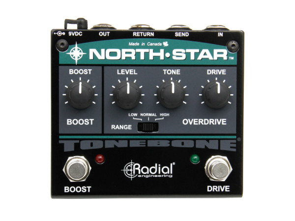 North-Star - Overdrive and Power Booster with effects loop