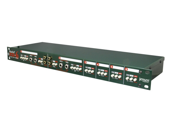 JD6 Six-Channel Rackmount Direct Box