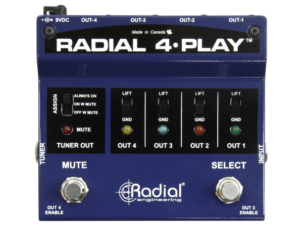 4-Play DI box for Multi-Instrumentalists