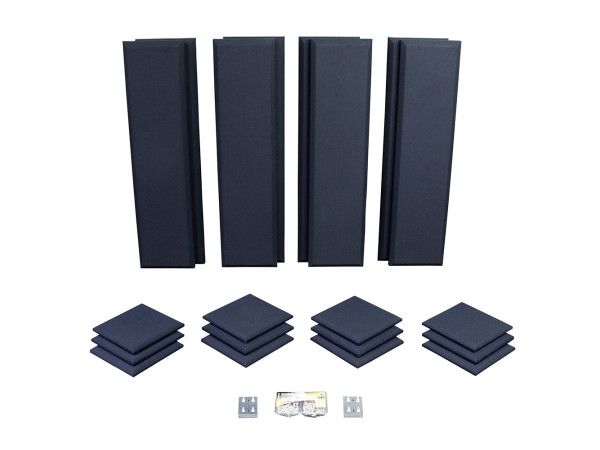 London 10 in Black Acoustic Wall Panel Room Kit