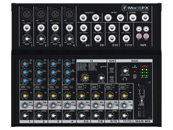 Mix12FX 12 Channel Compact Mixer with FX