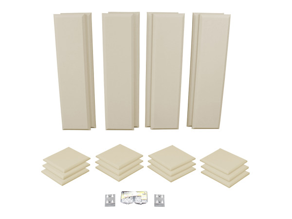 London 10 in Beige Acoustic Wall Panel Room Kit