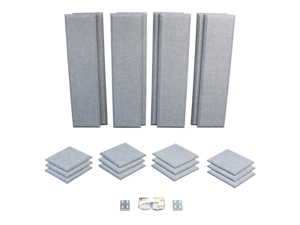 London 10 in Grey Acoustic Wall Panel Room Kit