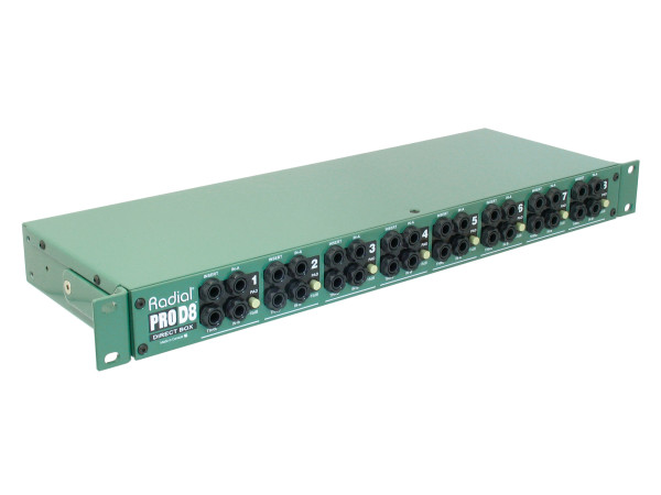 ProD8 Eight Channel Rackmount Direct Box