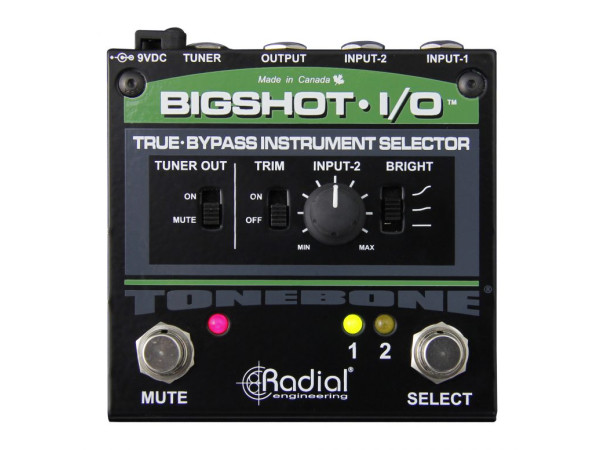 BigShot i/o - True bypass instrument selector