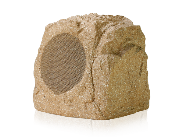 ROCKFA62T-BR All Weather Outdoor Landscape Garden Speaker with Natural Rock Aesthetic 32 W, 70 V Transformer