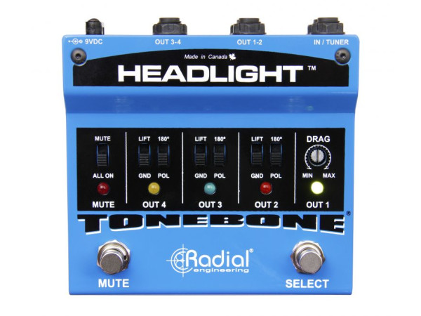 Headlight - 4 Output Guitar Amp Selector
