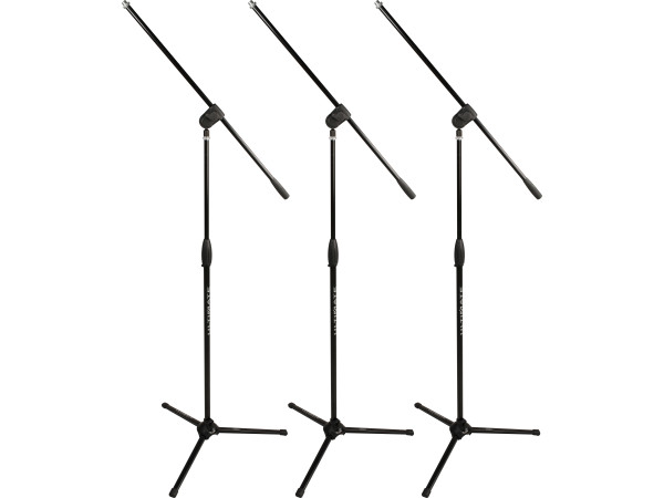 MC-40B Pro (3 Pack) Short Microphone Boom Stands