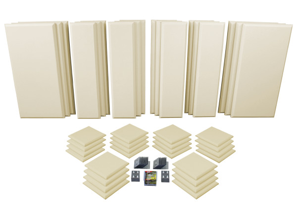London 16 in Beige Acoustic Wall Panel Room Kit