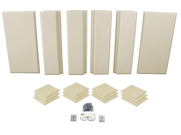 London 12 in Beige Acoustic Wall Panel Room Kit