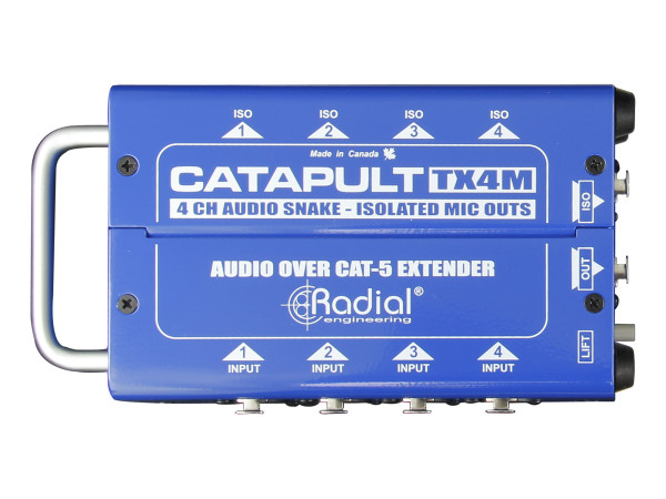 Catapult TX4M 4-Channel Transmitter with Balanced I/O, Mic-Level Transformers