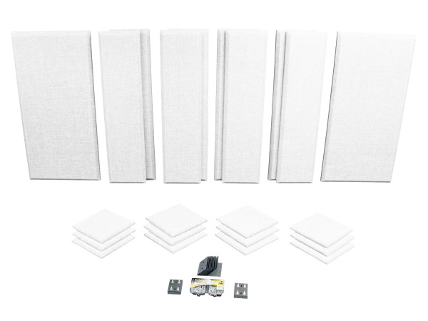 London 12 in White Acoustic Wall Panel Room Kit