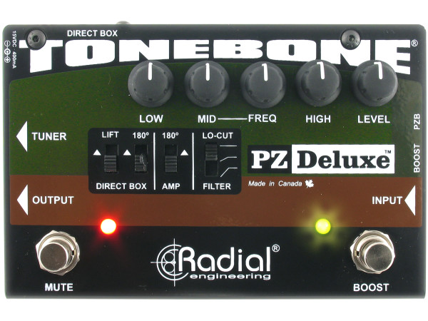 PZ-Deluxe - Compact acoustic preamp pedal
