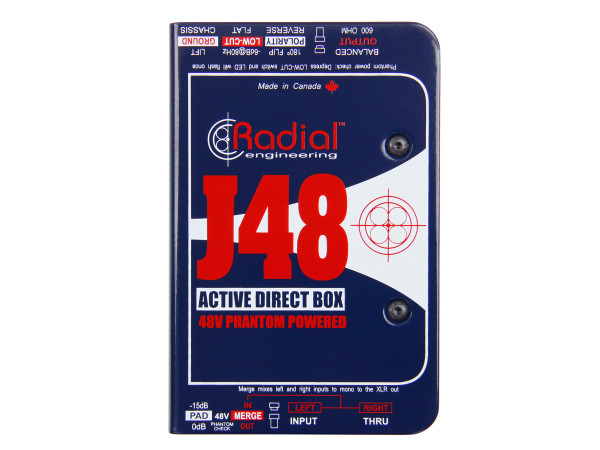 J48 - Phantom Powered Active Direct Box