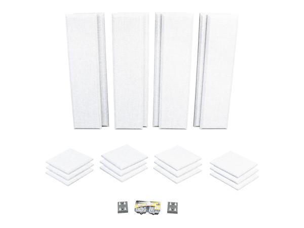 London 10 in White Acoustic Wall Panel Room Kit